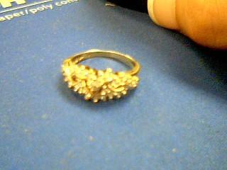 Lady's Diamond Fashion Ring 27 Diamonds .27 Carat T.W. 10K Yellow Gold 2.8g