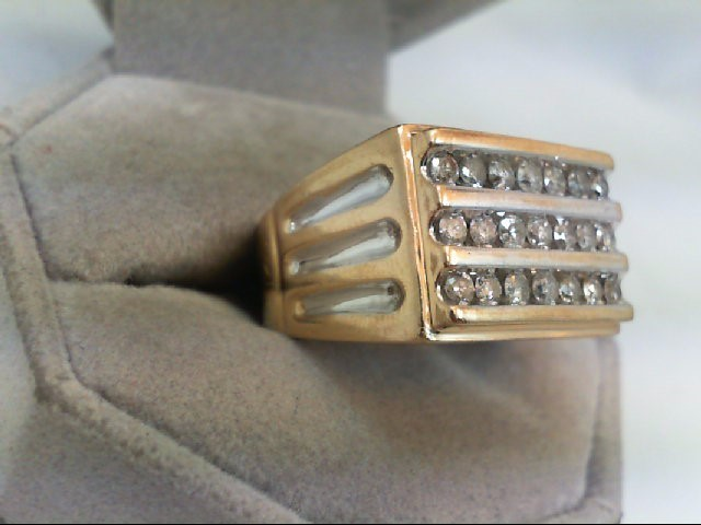 Gent's Diamond Fashion Ring 21 Diamonds 1.47 Carat T.W. 10K 2 Tone Gold 10.5g