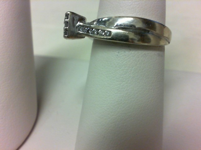 Lady's Diamond Engagement Ring 21 Diamonds .58 Carat T.W. 14K White Gold 5.9g