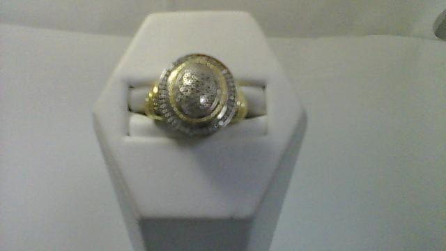Lady's Silver-Diamond Ring 50 Diamonds .50 Carat T.W. 925 Silver 5.8g