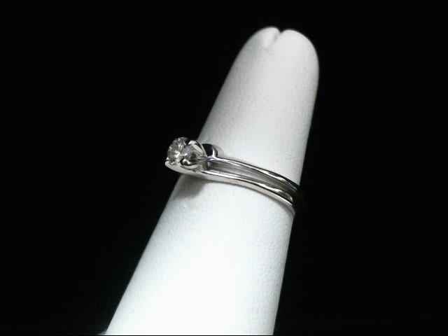 Lady's Diamond Wedding Set .22 CT. 14K White Gold 2.9g Size:5.5