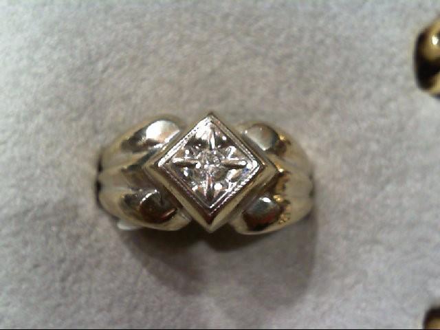 Gent's Diamond Fashion Ring .10 CT. 14K White Gold 6g