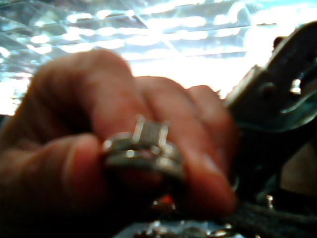 Lady's Gold Ring 10K White Gold 3.9dwt