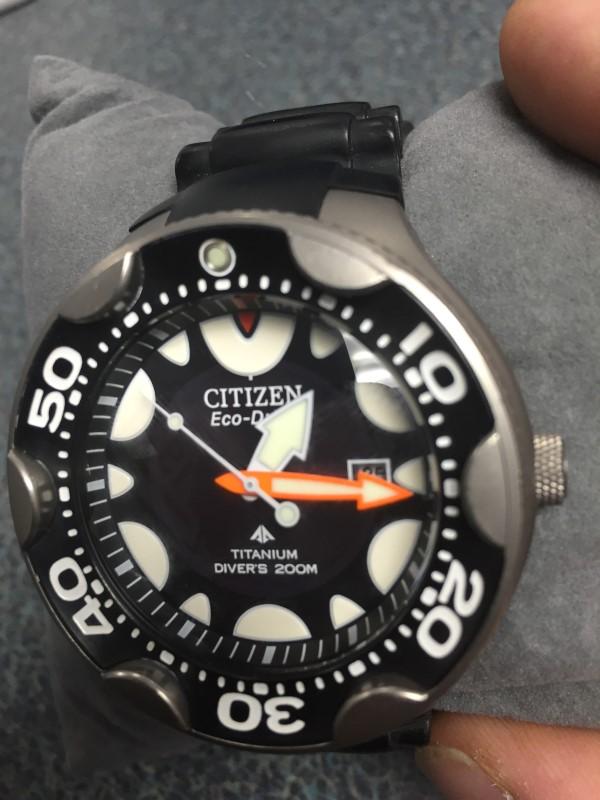 Citizen eco drive promaster orca black 200m dive watch titanium very good buya - Citizen titanium dive watch ...