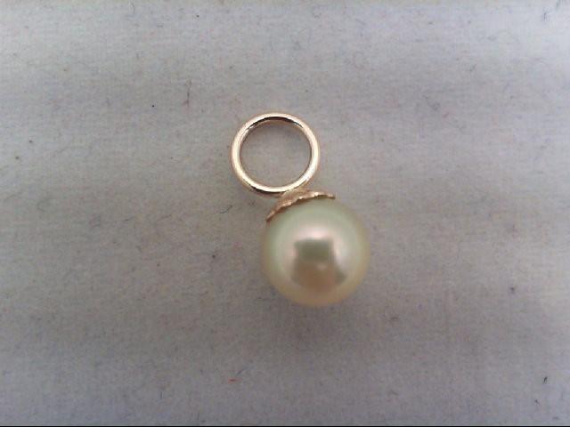 Pearl Gold-Stone Pendant 14K Yellow Gold 0.6g
