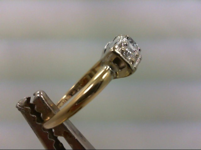 Lady's Diamond Wedding Band 3 Diamonds .71 Carat T.W. 14K 2 Tone Gold 4.1g