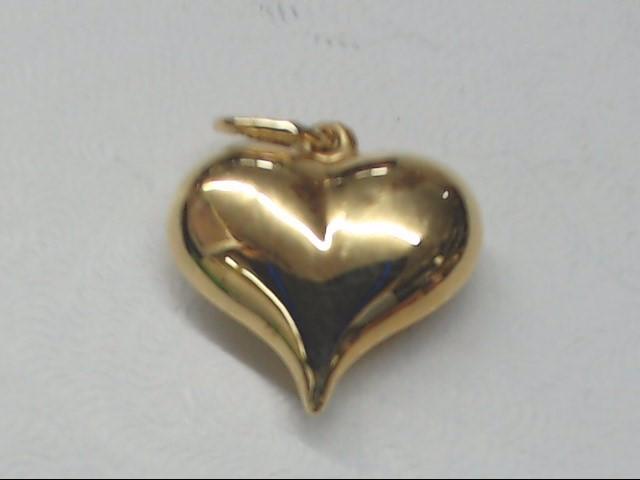 Gold Heart Charm 14K Yellow Gold 0.7g