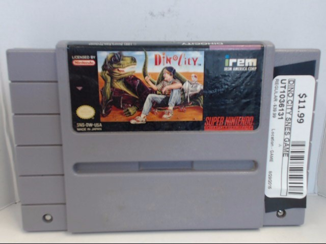 NINTENDO SNES DINO CITY *CARTRIDGE ONLY*