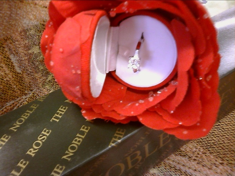 MISC NEW MISC NEW MISC NOBLE ROS4-R; ROS4-R THE NOBLE ROSE RING BOX