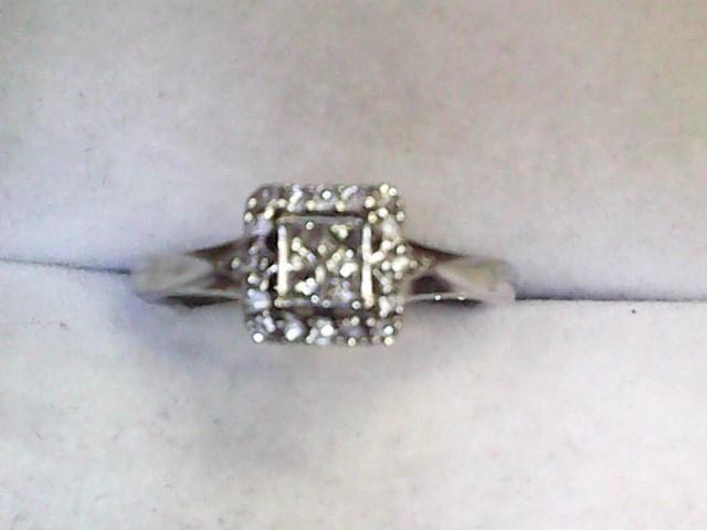 Lady's Diamond Fashion Ring 20 Diamonds .36 Carat T.W. 10K White Gold 1.6dwt