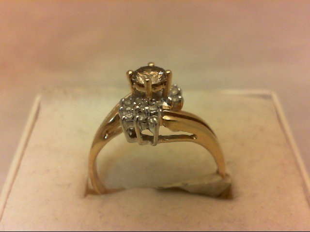 Lady's Diamond Cluster Ring 15 Diamonds .63 Carat T.W. 14K Yellow Gold 2.5g