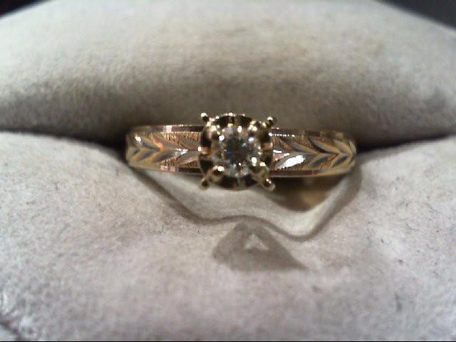 Lady's Diamond Engagement Ring .10 CT. 14K Yellow Gold 2.3g