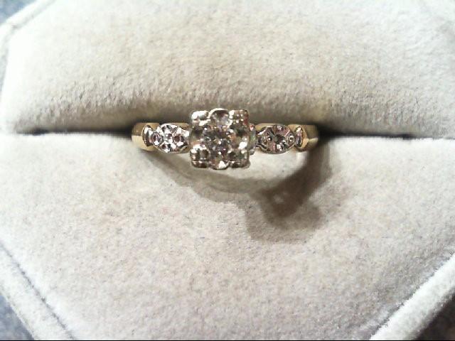 Lady's Diamond Engagement Ring .08 CT. 14K 2 Tone Gold 2.7g