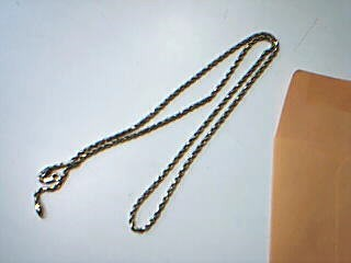 """20"""" Gold Rope Chain 14K Yellow Gold 8.7g"""