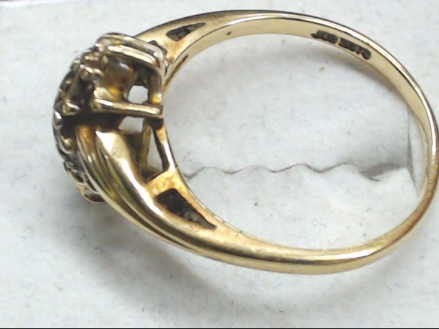 Lady's Gold Ring 10K Yellow Gold 3.6g Size:8
