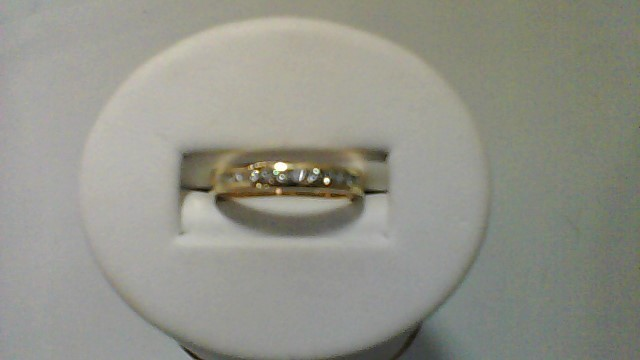 Lady's Gold-Diamond Anniversary Ring 12 Diamonds .12 Carat T.W. 14K Yellow Gold