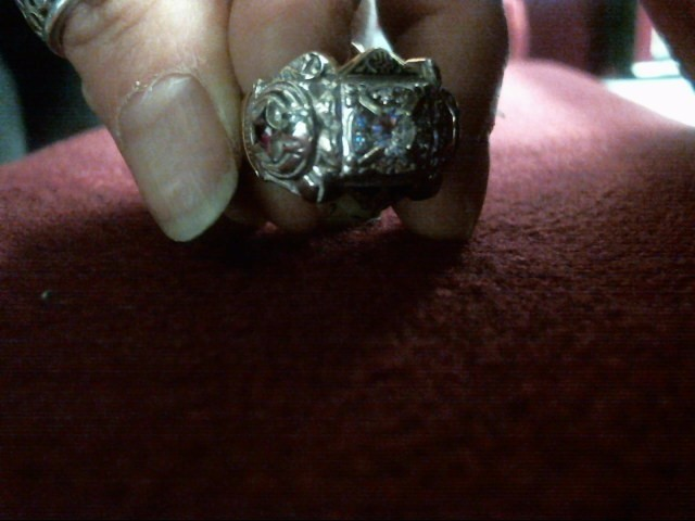 Gent's Diamond Fashion Ring 9 Diamonds .45 Carat T.W. 10K 2 Tone Gold 10.4dwt