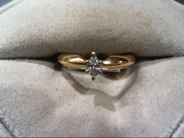 Lady's Diamond Engagement Ring .20 CT. 14K Yellow Gold 2.4g