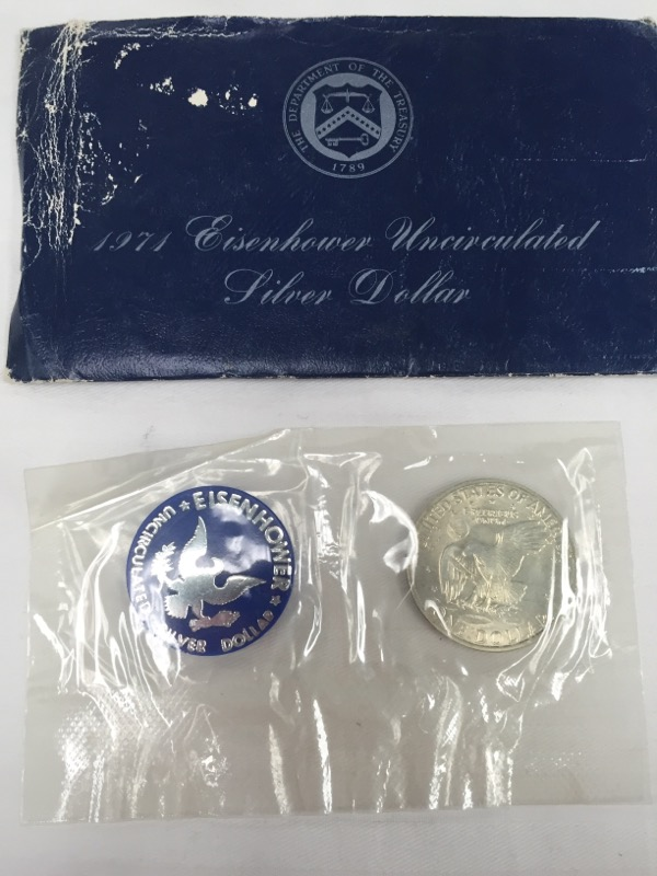 UNITED STATES 1971 EISENHOWER UNCIRCULATED SILVER DOLLAR