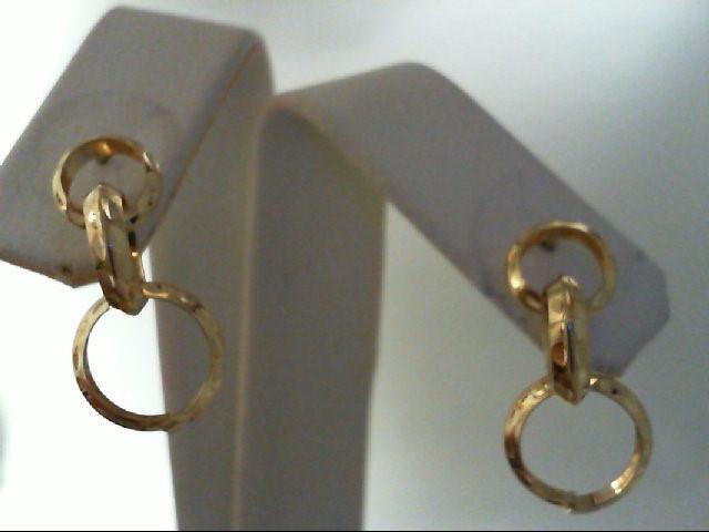 Gold Earrings 14K Yellow Gold 1.1g