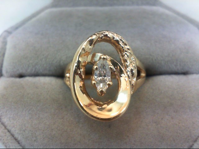 Lady's Diamond Solitaire Ring .35 CT. 14K Yellow Gold 6g