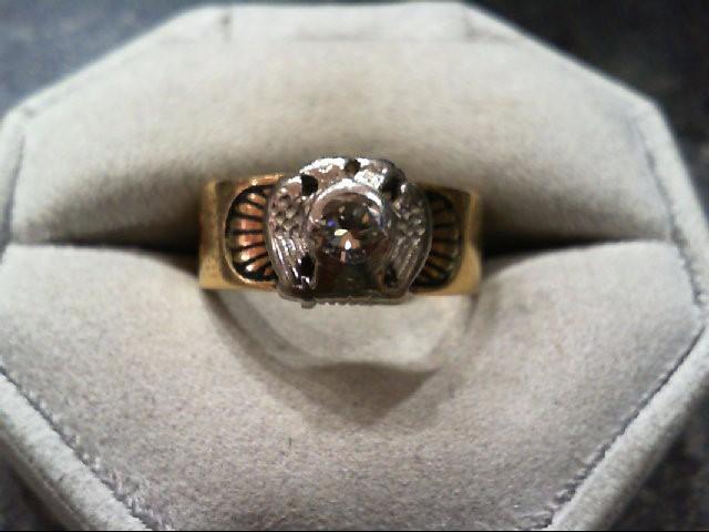 Gent's Diamond Fashion Ring .30 CT. 14K Yellow Gold 6g