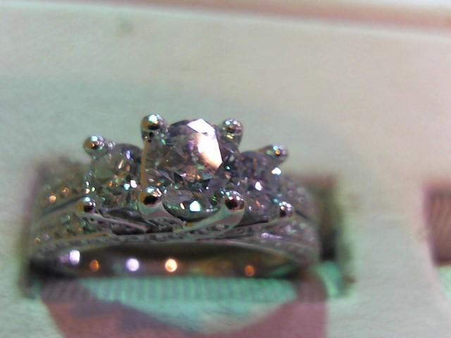 Lady's Diamond Wedding Set 77 Diamonds 1.74 Carat T.W. 14K White Gold 4.4g