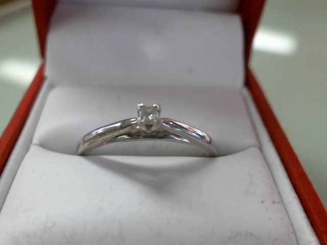 Lady's Silver-Diamond Ring .08 CT. 925 Silver 2.5g