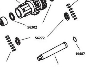 CUSTOM CHROME 26272, #35100-36; 4SPD BEARING RACE MAINSHFT BT36-79