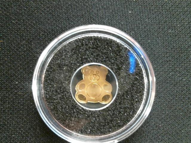 REPUBLIC OF PALAU GOLD TEDDY BEAR