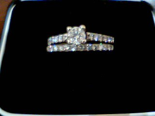 Lady's Diamond Engagement Ring 26 Diamonds 1.65 Carat T.W. 14K White Gold 5.1g