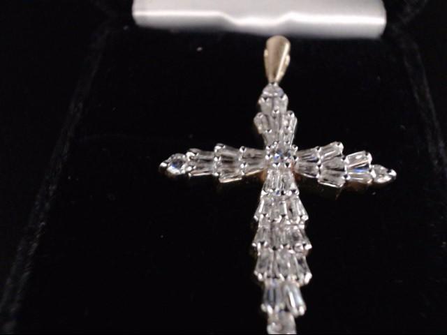Gold-Multi-Diamond Pendant 39 Diamonds 1.61 Carat T.W. 14K 2 Tone Gold 3.88g