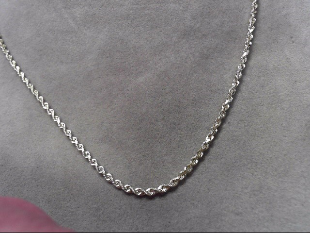 """18"""" Gold Rope Chain 10K Yellow Gold 6.21"""