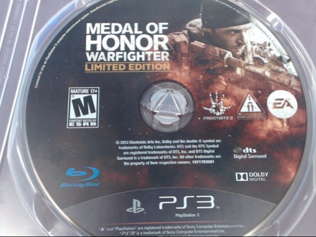 SONY PS3 MEDAL OF HONOR WARFIGHTER