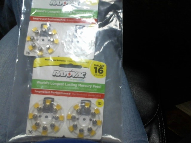 NEW AND SEALED RAYOVAC HEARING AID BATTERIES SIZE 10