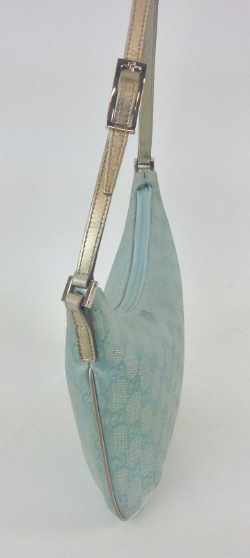 GUCCI SMALL LIGHT BLUE MONOGRAM BAG
