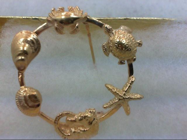 Gold Brooch 14K Yellow Gold 9.2g
