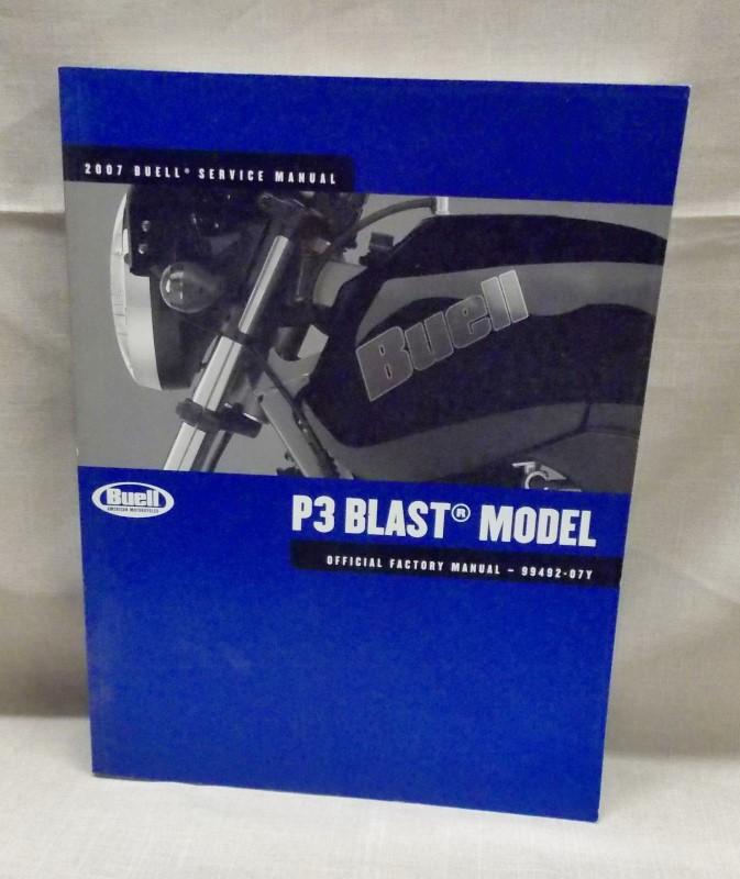 BUELL SERVICE MANUAL- P3 BLAST MODEL- 2007-99492-07Y