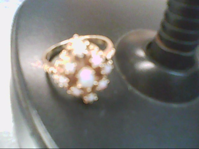 Synthetic Opal Lady's Stone Ring 14K Yellow Gold 4.4g Size:8