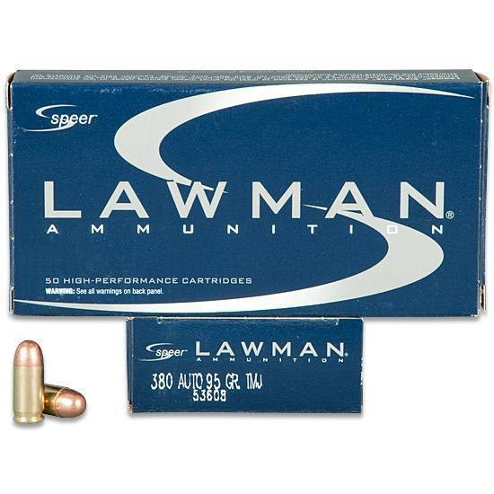 LAWMAN AMMO Ammunition 380 AUTO 95 GRAIN TMJ 53608