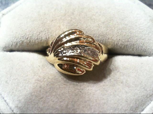 Lady's Diamond Fashion Ring 4 Diamonds .04 Carat T.W. 10K Yellow Gold 3.2g