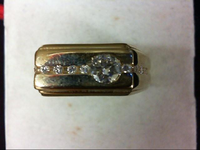 Gent's Gold-Diamond Wedding Band 14 Diamonds .53 Carat T.W. 14K Yellow Gold