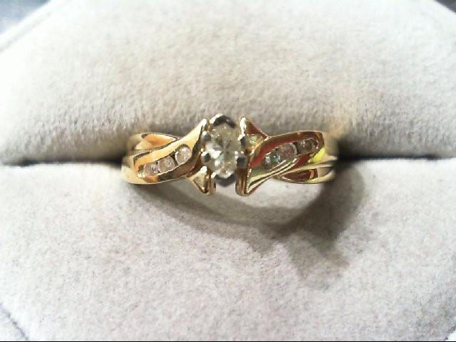 Lady's Diamond Engagement Ring 7 Diamonds .36 Carat T.W. 14K Yellow Gold 3.8g