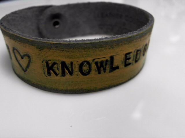BACK TO SCHOOL LEATHER TEACHER BRACELETS BY JESSICA GALINDO HAND MADE AND PAINT