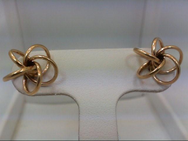 Gold Earrings 14K Yellow Gold 1.4g