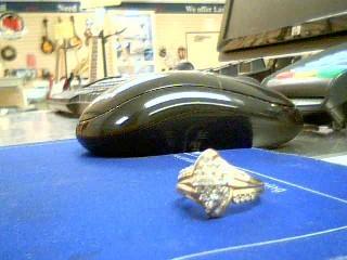 Lady's Diamond Cluster Ring 57 Diamonds 1.08 Carat T.W. 10K Yellow Gold 3.1g