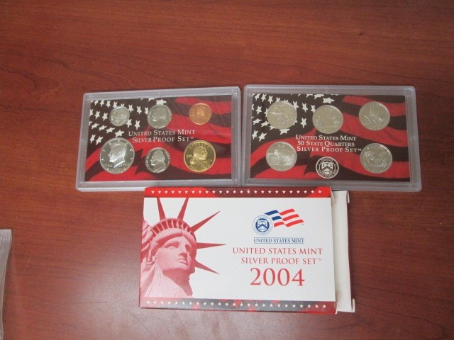 2004-S SILVER PROOF SET'S...BUY 1 OR UP TO 8 IN MINT BOX WITH COA