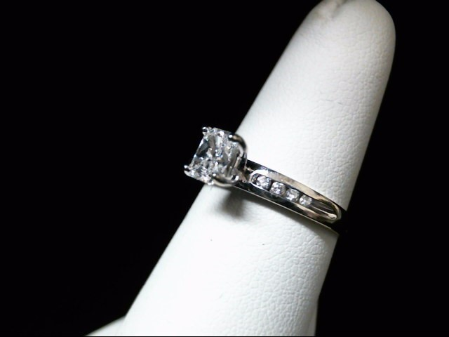 Lady's Diamond Engagement Ring 9 Diamonds .60 Carat T.W. 14K White Gold 2.9g