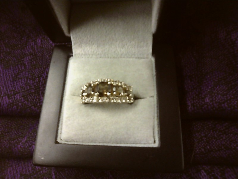 White Stone Lady's Silver & Stone Ring 925 Silver 3dwt
