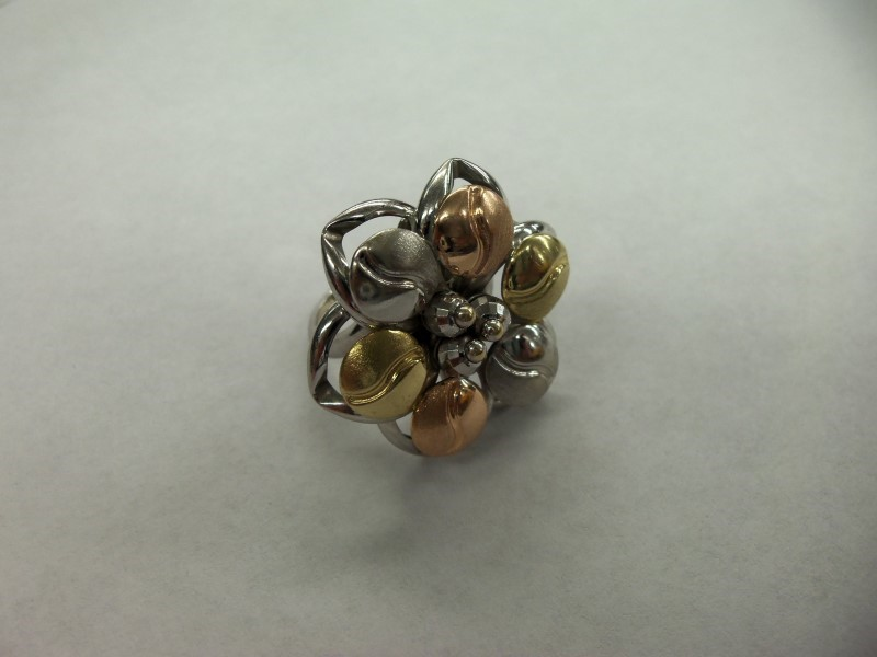 Lady's Gold Ring 14K Tri-color Gold 6.9g Size:7